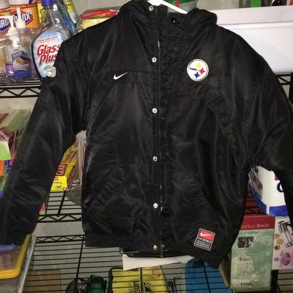 wholesale dealer 6a2bd e04a2 Vintage Nike Steelers Bomber Jacket